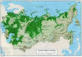 former soviet union map former soviet union features of terrestrial relief 1974