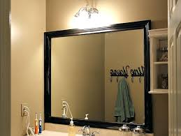 Frame A Bathroom Mirror With Molding How To Frame Bathroom Mirror With Molding Best Bathroom Mirrors