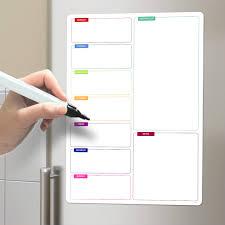 tableau magn騁ique cuisine tableau magnétique hebdomadaire planning frigo