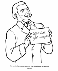 usa printables samuel morse coloring pages famous americans in
