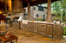 Rustic Outdoor Kitchen Ideas Rustic Outdoor Kitchen Effective Bar Areas Kitchens Robinsuites Co