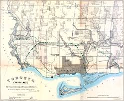 Toronto Canada Map by Historical Maps Of Toronto 1865 Jervois Toronto Canada West