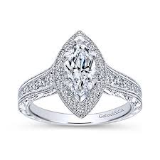 gabriel and co engagement rings leticia 14k white gold marquise halo engagement ring er8812w44jj