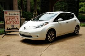 nissan leaf ad nissan leaf with self cleaning paint tech is literally the world u0027s