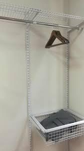 modern diy wall mounted clothes hanger rack metal closet organizer