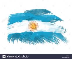 Stock Feather Flags Argentina Flag Brush Abstract Strokes Backdrop Background