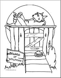 dog house coloring pages clip art halloween houses wolfman u0027s dog house coloring page i