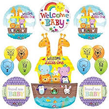Noah S Ark Decorations Amazon Com Noah U0027s Ark Welcome Baby Shower Balloons Decorations