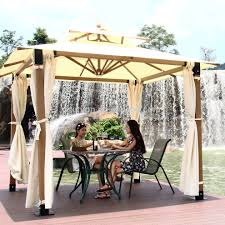 Small Patio Gazebo by Modern Garden Gazebo Complete With Metal Patio Furnitures And