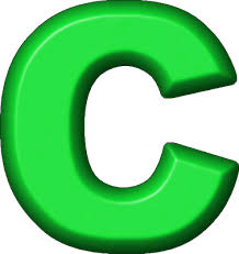 presentation alphabets green refrigerator magnet c