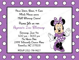 10 purple minnie mouse invitations with envelopes free