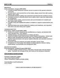 sample resume of waitress sample functional resume sample waiter