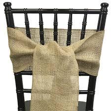 Burlap Chair Sash Burlap Chair Sash Natural Tan
