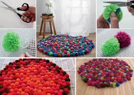 Diy Rug Diy Pom Pom Rug Find Fun Art Projects To Do At Home And Arts And