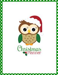 printable christmas planner krafty owl