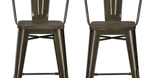 Industrial Bar Stool With Back Bar Amazing Simple Swivel Bar Stool Having No Back In Black