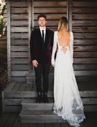 bohemian style wedding dresses vintage boho very low back romantic