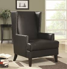 chairs leather accent chairs for living room fascinating comfy