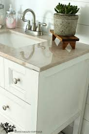 bathroom vanity makeover ideas powder bathroom vanity makeover the wood grain cottage