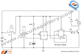 remote controlled dc motor for toy car circuit diagram circuits