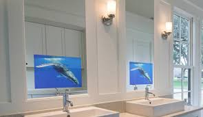 tv in the bathroom mirror bathroom mirror with built in tv architecture aiagearedforgrowth