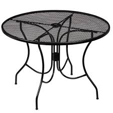 Hampton Bay Nantucket Round Metal Outdoor Dining Table - 60 inch round wrought iron outdoor dining tables