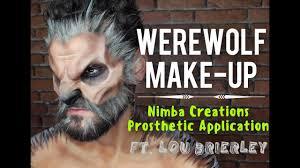 Halloween Werewolf Makeup Werewolf Make Up Tutorial Nimba Creations Prosthetic