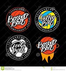 sport logo set of basketball volleyball football stock vector