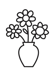 Black And White Vases Cartoon Flower Clipart Black And White Clipartsgram Com