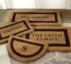 Personalized Outdoor Rugs Personalized Doormat Pottery Barn