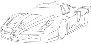 ferrari fxx coloring free printable coloring pages