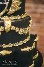 black u0026 gold wedding cake 2512501 weddbook