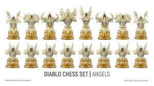 collectibles diablo chess set on behance
