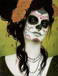 la muerte costume day of the dead dead makeup sugar skulls and sugaring