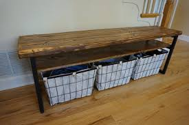rustic entryway bench with storage cepagolf