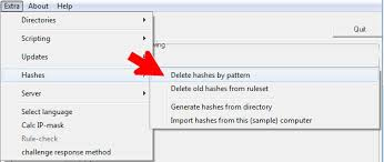 pattern rule directory seculution dokumentation delete entries using a pattern