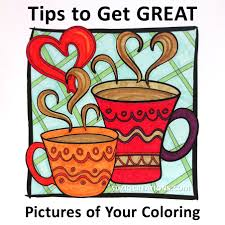 how to take better pictures of your coloring suziq creations