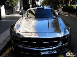 chrome benz cool looking chrome wrapped oakley design mercedes benz sls amg