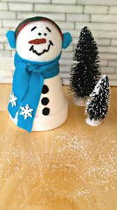 clay pot snowman easy terracotta christmas project