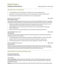 gallery of the best business analyst resume sample sample