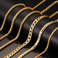 wholesale chain necklace images Fashion silver gold color chain necklace for men women stainless jpg