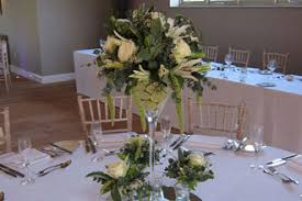 Large Martini Glass Centerpieces by Table Display Gallery Designs By Cotswold Blooms