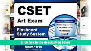 free download cset art exam flashcard study system cset test