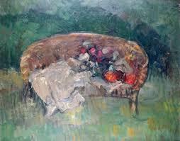 dans le canapé le canapé en rotin dans le jardin by abel bertram on artnet