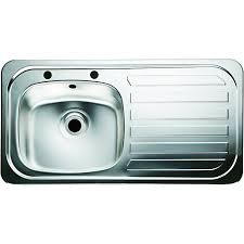 Wickes Single Bowl Kitchen Sink Stainless Steel Rh Drainer - Stainless steel single bowl kitchen sink