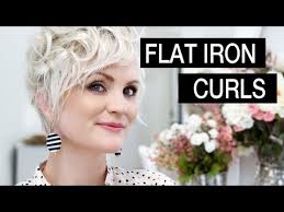 how to put rollersin extra short hair how to style short hair flat iron curls youtube