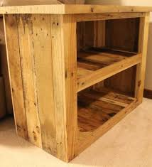 reclaimed pallet wood furniture side table made out of used