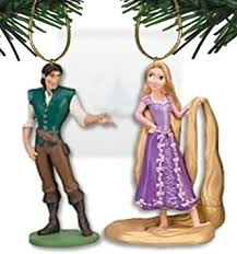 disney s tangled rapunzel and flynn ornament set