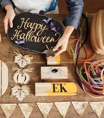 halloween wood block signs halloween decorations joann