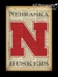 nebraska cornhuskers dictionary print by a2z photography a perfect